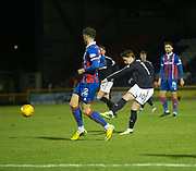30th January 2018, Tulloch Caledonian Stadium, Inverness, Scotland; Scottish Cup 4th round replay, Inverness Caledonian Thistle versus Dundee; Dundee's Scott Allan dies in a shot which went just wide