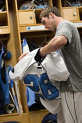 05 April 2008: North Carolina Tar Heels midfielder Michael J. Burns (26) before playing the Virginia Cavaliers in Chapel Hill, NC.