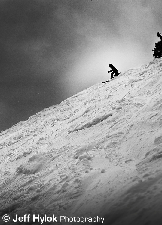 Annie McCoy tele's down Wolf Creek's Alberta Face. Colorado