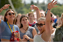 T in the Park fans enjoying the sunshine and music at the Main Stage, T in the Park, Strathallan Castle, Auchterarder, 8 July 2016, <br /> (c) Brian Anderson | Edinburgh Elite media