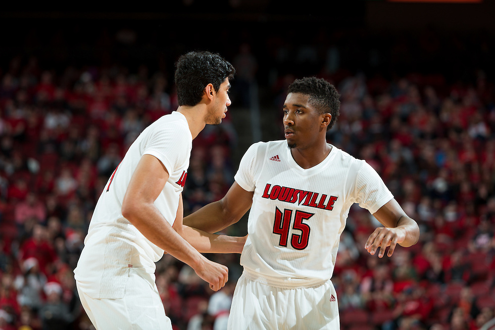 in the second half. The University of Louisville hosted Eastern Kentucky University, Saturday, Dec. 17, 2016 at The KFC Yum Center in Louisville. Louisville won 87-56.