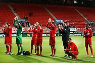 28-11-2015 VOETBAL:FC TWENTE-WILLEM II:ENSCHEDE<br /> Renato Tapia van FC Twente gehurkt en teleurgesteld na afloop van de wedstrijd <br /> <br /> Foto: Geert van Erven