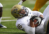 September 17, 2011: Pittsburgh Panthers defensive back Saheed Imoru (16) grabs a fumbled ball during the first half of the game between the Iowa Hawkeyes and the Pittsburgh Panthers at Kinnick Stadium in Iowa City, Iowa on Saturday, September 17, 2011. Iowa defeated Pittsburgh 31-27.