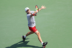 August 29, 2018 - Flushing Meadow, NY, U.S. - FLUSHING MEADOW, NY - AUGUST 29: DOMINIC THIEM (AUT) day three of the 2018 US Open on August 29, 2018, at Billie Jean King National Tennis Center in Flushing Meadow, NY. (Photo by Chaz Niell/Icon Sportswire) (Credit Image: © Chaz Niell/Icon SMI via ZUMA Press)