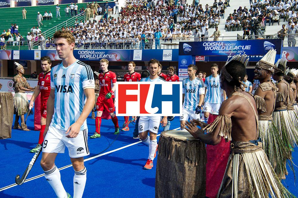 Odisha Men's Hockey World League Final Bhubaneswar 2017<br /> Match id:03<br /> Argentina v Belgium<br /> Foto: Line up Arg.<br /> WORLDSPORTPICS COPYRIGHT FRANK UIJLENBROEK