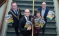 free pic no repro fee     GMC20012017 <br /> Lord Mayor Des Cahill, Simon Coveney TD  Minister for Housing, Planning and Local Government ,Cathy Buchanan GM Meitheal Mara and Martin Ryan Chairman Meitheal Mara Pictured at the Port of Cork, for the launch of Meitheal Mara&rsquo;s ambitious plans for the realisation  of an integrated maritime hub for Cork City. www.meithealmara.ie<br /> Images By Gerard McCarthy 087 8537228 <br /> For more info contact  Joya Kuin  0857770969  joyakuin@gmail.com