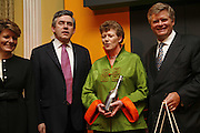 Vivienne Cox, Gordon Brown, Cecile Bonneford  and David Meyer , Veuve Cliquot Award.- Business Woman of the Year. claridge's. London. 27 April 2006. ONE TIME USE ONLY - DO NOT ARCHIVE  © Copyright Photograph by Dafydd Jones 66 Stockwell Park Rd. London SW9 0DA Tel 020 7733 0108 www.dafjones.com