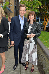 OLIVER & VANESSA BARKER at an Evening at The River Cafe in aid of the NSPCC held at The River Cafe, Thames Wharf, Rainville Road, London on 19th June 2016