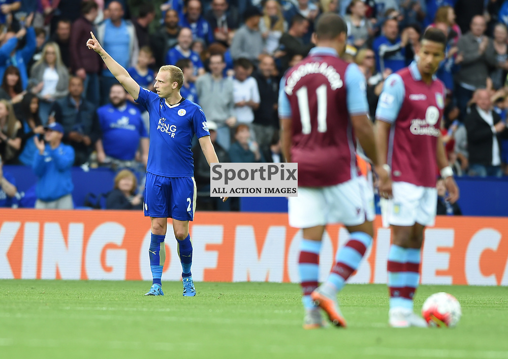 Richie De Laet acknowledges the crowd after bringing Leicester back in to the game at 2-1 (c) Simon Kimber | SportPix.org.uk
