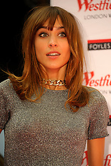 AUG 12 2014 Alexa Chung book signing at Westfield London