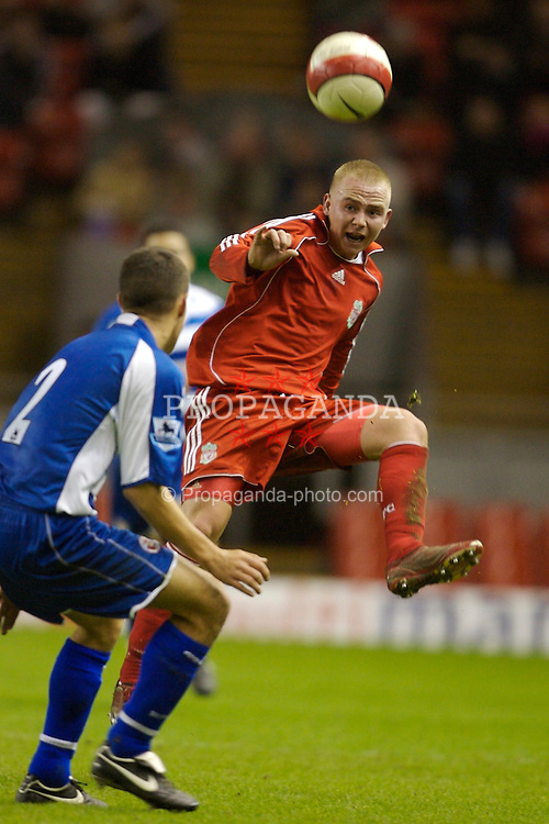 Liverpool, England - Friday, January 26, 2007: Liverpool's Ray Putterill in action against Reading during the FA Youth Cup 5th Round match at Anfield. (Pic by David Rawcliffe/Propaganda)