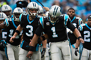 December 24, 2016: Carolina Panthers vs Atlanta Falcons. Cam Newton and Derek Anderson