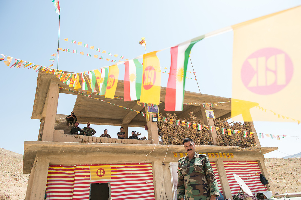 Peshmerga of the Kurdistan Democratic Party at their military base in Shingal Region. Shingal (Sinjar)  Iraq, September 8, 2015