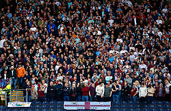 Burnley fans in the stands at Ewood Park