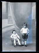 studio portrait of siblings  France ca 1920s