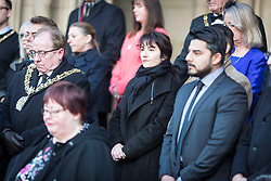 © Licensed to London News Pictures. 23/03/2017. MANCHESTER , UK.  <br /> <br /> A vigil is held in Albert Square , Manchester City Centre today (Thursday 23rd March 2017) to show solidarity with London after yesterday's terrorist attack.<br /> <br /> <br /> Photo credit: CHRIS BULL /LNP
