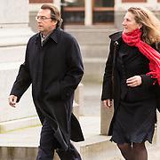 NLD/Utrecht/20140215 - Herdenkingsdienst Els Borst in de Domkerk, Hans Wijers en partner