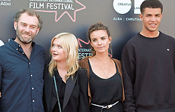 Edinburgh International Film Festival, Wednesday, 27th June 2018<br /> <br /> OBEY (UK PREMIERE)<br /> <br /> Pictured:  Director Jamie Jones, Sophie Kennedy Clark, producer Emily Jones and Marcus Rutherford <br /> <br /> (c) Alex Todd   Edinburgh Elite media