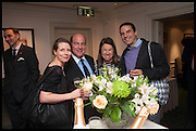 MARIBEL MONTERO; ALLEJANDRO PINEIRO; CHRISTINA MATTIN; RODOLFO VILLAPLANA, The hon Alexandra Foley hosts drinks to introduce ' Lady Foley Grand Tour' with special guest Julian Fellowes. the Sloane Club. Lower Sloane st. London. 14 May 2014