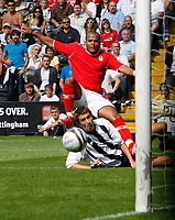 Photo: Steve Bond/Richard Lane Photography. Nottingham County v Nottigham Forest. Pre season Friendly. 25/07/2009. Rob Earnshaw watches his shot go across the face of the goal