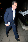 09.DECEMBER.2013. LONDON<br /> <br /> CODE - JG<br /> <br /> CHARLES SAATCHI DINES OUT AT 34 MAYFAIR<br /> <br /> BYLINE: EDBIMAGEARCHIVE.CO.UK<br /> <br /> *THIS IMAGE IS STRICTLY FOR UK NEWSPAPERS AND MAGAZINES ONLY*<br /> *FOR WORLD WIDE SALES AND WEB USE PLEASE CONTACT EDBIMAGEARCHIVE - 0208 954 5968*