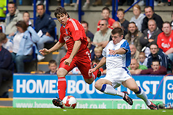 BIRKENHEAD, ENGLAND - Saturday, July 12, 2008: Liverpool's Emiliano Insua during his side's first pre-season match of the 2008/2009 season against Tranmere Rovers at Prenton Park. (Photo by David Rawcliffe/Propaganda)