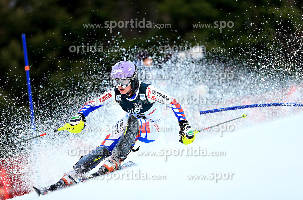04.01.2013, Crveni Spust, Zagreb, AUT, FIS Ski Alpin Weltcup, Slalom, Damen, 1. Lauf, im Bild Tessa Worley (FRA) // Tessa Worley of France in action // during 1st Run of the ladies Slalom of the FIS ski alpine world cup at Crveni Spust course in Zagreb, Croatia on 2013/01/04. EXPA Pictures © 2013, PhotoCredit: EXPA/ Pixsell/ Slavko Midzor..***** ATTENTION - for AUT, SLO, SUI, ITA, FRA only *****