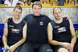 Goran Jagodnik, Matjaz Smodis and Raso Nesterovic during football and basketball charity event All Legends by Olimpiki, on June 9, 2015 in Hala Tivoli, Ljubljana, Slovenia. Photo by Vid Ponikvar / Sportida