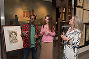 SIMON NANYONDA, JESSICA SIAN, Preview evening  in support of The Eve Appeal, a charity dedicated to protecting women from gynaecological cancers. Bonhams Knightsbridge, Montpelier St. London. 29 April 2019