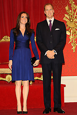 Wax work figures of Duke and Duchess of Cambridge