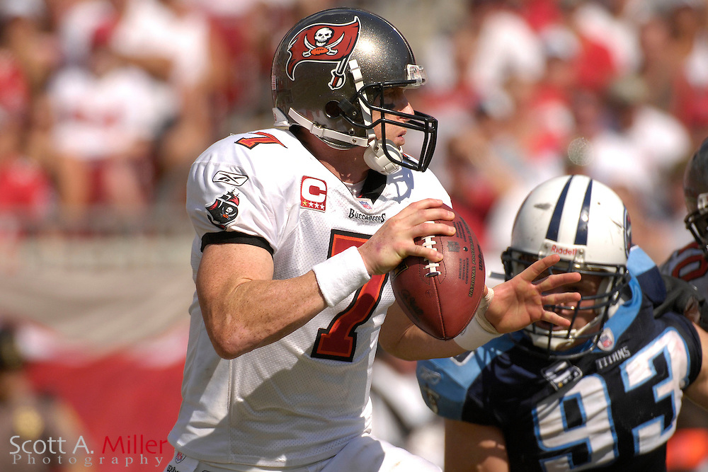 Oct. 14, 2007; Tampa, FL, USA; Tampa Bay Buccaneers quarterback Jeff Garcia (7) during his team's game against the Tennessee Titans at Raymond James Stadium. ...©2007 Scott A. Miller