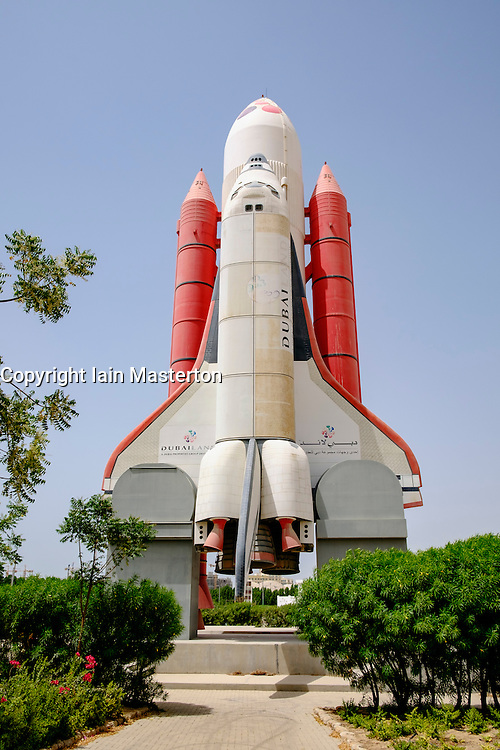 Space Shuttle at an abandoned amusement park at Dubailand in Dubai United Arab Emirates