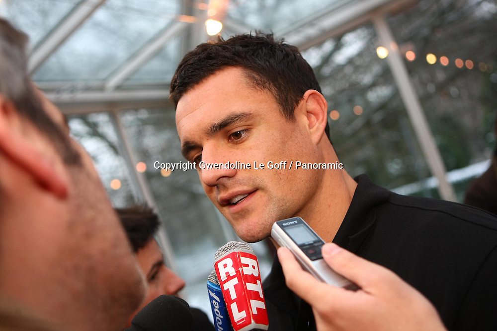 Rugby : Conference Presse Adidas - Rencontre All Blacks et Stade Francais - 01.12.2010 - Dan Carter