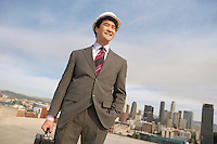 Businessman in a Hard Hat