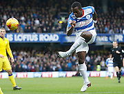 QPR Defender Nedum Onuoha (captain) clears his lines during the Sky Bet Championship match between Queens Park Rangers and Leeds United at the Loftus Road Stadium, London, England on 28 November 2015. Photo by Andy Walter