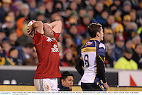 18 June 2013; Rory Best, British & Irish Lions, prepares to take a lineout. British & Irish Lions Tour 2013, Brumbies v British & Irish Lions. Canberra Stadium, Bruce, Canberra, Australia. Picture credit: Stephen McCarthy / SPORTSFILE