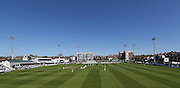 the BrightonandHoveJobs.com County Ground during day 3 of the LV County Championship Div 1 match between Sussex County Cricket Club and Worcestershire County Cricket Club at the BrightonandHoveJobs.com County Ground, Hove, United Kingdom on 21 April 2015.