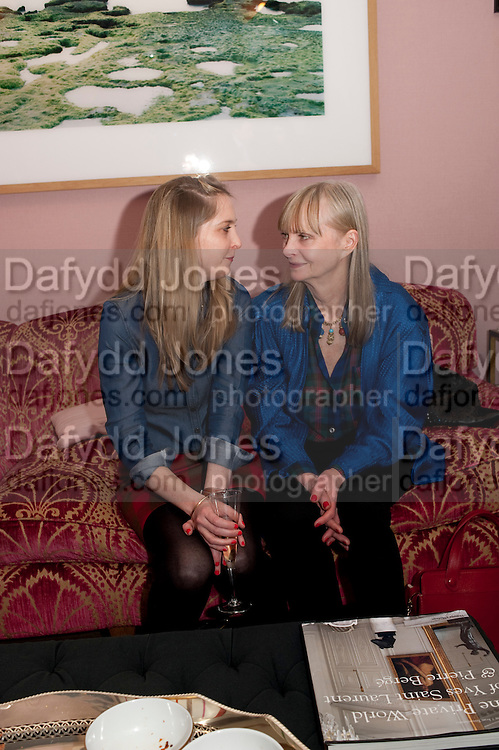 daisy de villeneuve; jan de villeneuve, Party hosted for ~Jason Wu by Plum Sykes and Christine Al-Bader. Ladbroke Grove. London. 22 March 2011. -DO NOT ARCHIVE-© Copyright Photograph by Dafydd Jones. 248 Clapham Rd. London SW9 0PZ. Tel 0207 820 0771. www.dafjones.com.