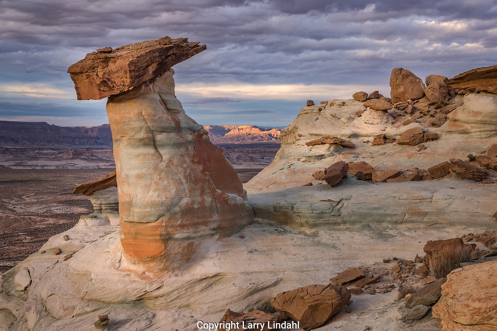 Sandstone rock formations, Studhorse Point, Utah, near Page, Arizona