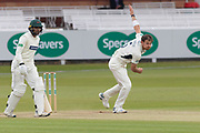James Harris bowling during the Specsavers County Champ Div 2 match between Middlesex County Cricket Club and Leicestershire County Cricket Club at Lord's Cricket Ground, St John's Wood, United Kingdom on 17 May 2019.