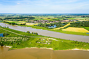 Nederland, Gelderland, Gemeente Lingewaard, 09-06-2016; Fort Pannerden, onderdeel van de Nieuwe Hollandse Waterlinie. Gelegen op de landtong van de Pannerdensche Kop, 'bewaakt' de splitsing van de Rijn in Waal en Neder-rijn (Pannerdensch Kanaal).<br /> Fort Pannerden, part of the New Dutch Waterline. Located on the headland of the Pannerdensche Head, 'guards' the division of the Rhine in river Waal and Lower Rhine (Pannerdensch Channel).<br /> luchtfoto (toeslag op standard tarieven);<br /> aerial photo (additional fee required);<br /> copyright foto/photo Siebe Swart