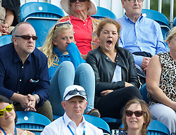 LIVERPOOL, ENGLAND - Thursday, June 19, 2014: Spectators during Day One of the Liverpool Hope University International Tennis Tournament at Liverpool Cricket Club. (Pic by David Rawcliffe/Propaganda)