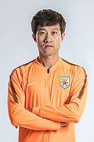 **EXCLUSIVE**Portrait of Chinese soccer player Song Long of Shandong Luneng Taishan F.C. for the 2018 Chinese Football Association Super League, in Ji'nan city, east China's Shandong province, 24 February 2018.