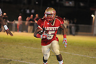Lafayette High's Demarkous Dennis (5) runs vs. New Albany in Oxford, Miss. on Friday, October 14, 2011. ..