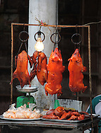 A selection food on  the streets of Hanoi.  Photograph by Dennis Brack