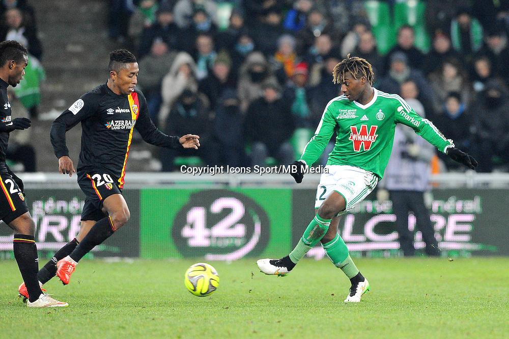 Allan SAINT MAXIMIN  - 06.02.2015 - Saint Etienne / Lens - 24eme journee de Ligue 1 -<br /> Photo : Jean Paul Thomas / Icon Sport