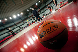 Ball during practice session of basketball club Lottomatica Roma day before Euroleague Top 16 Round Match vs KK Union Olimpija Ljubljana, on January 19, 2011 in Arena PalaLottomatica, Rome, Italy. (Photo By Vid Ponikvar / Sportida.com)