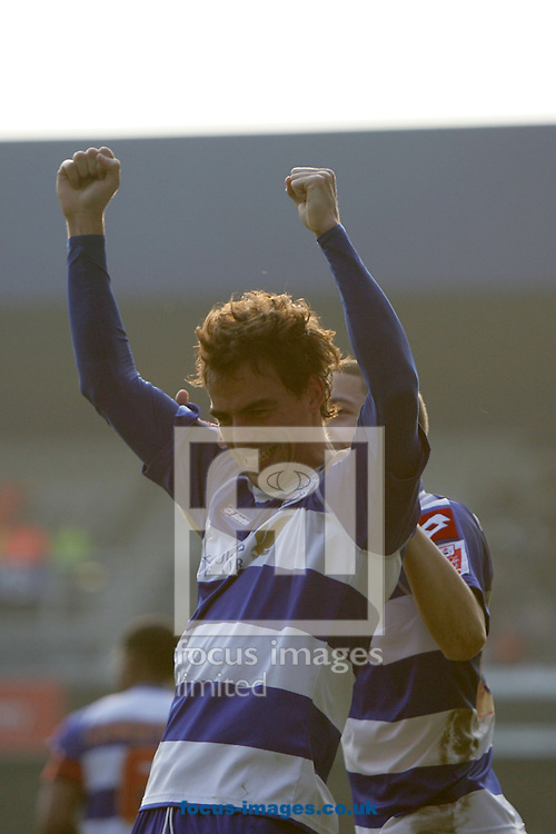 London - Saturday March 21st, 2009: Jordi Lopez of QPR celebrates scoring his side's first goal during the Coca Cola Championship match at Loftus Road, London. (Pic by Mark Chapman/Focus Images)