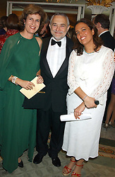 Left to right, PRINCESS ESMERALDA OF BELGIUM, PROF.SALVADOR MONCADA and LISA YACOUB at the Chain of Hope 10th Anniversary Ball held at The Dorchester, Park Lane, London on 1st November 2005.<br />