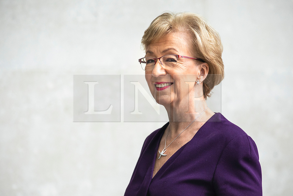 © Licensed to London News Pictures. 02/06/2019. London, UK. Former Leader of the House of Commons and Conservative Party leadership contender Andrea Leadsom arrives at BBC Broadcasting House to appear on The Andrew Marr Show. Photo credit: Rob Pinney/LNP